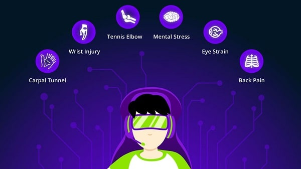 take care of body while gaming